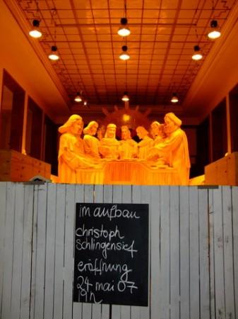 Aufbau der Installation im Haus der Kunst München