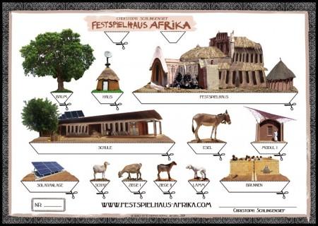 Bastelbogen Afrika neu