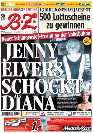 B.Z. Titelseite vom 15. September 2006